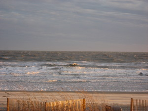 Evening Light on the Ocean at Cherry Grove