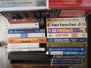 "Tapes and CDs from my own ""Audio Enlightenment"" & ""Automobile University"" collection"