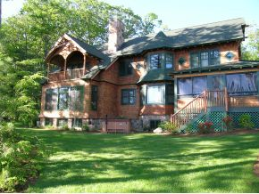 "This is an example of an ""Adirondack"" style of home - one of my favorite styles!"